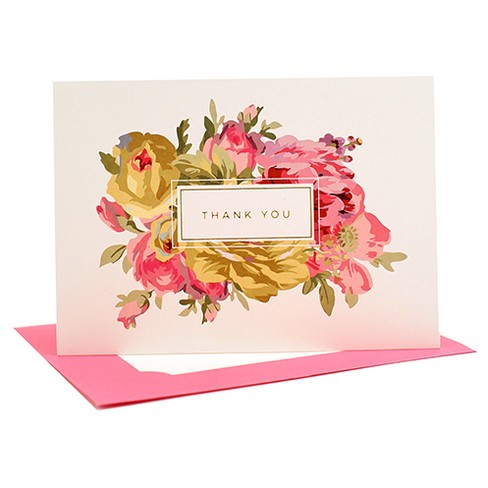 """10ct """"Thank You"""" Note card Box - image 1 of 1"""