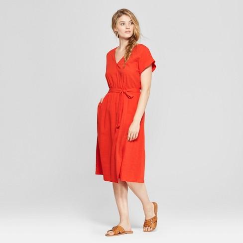 a6d575dcbe Women s V-Neck Sundress - Universal Thread™ Orange   Target
