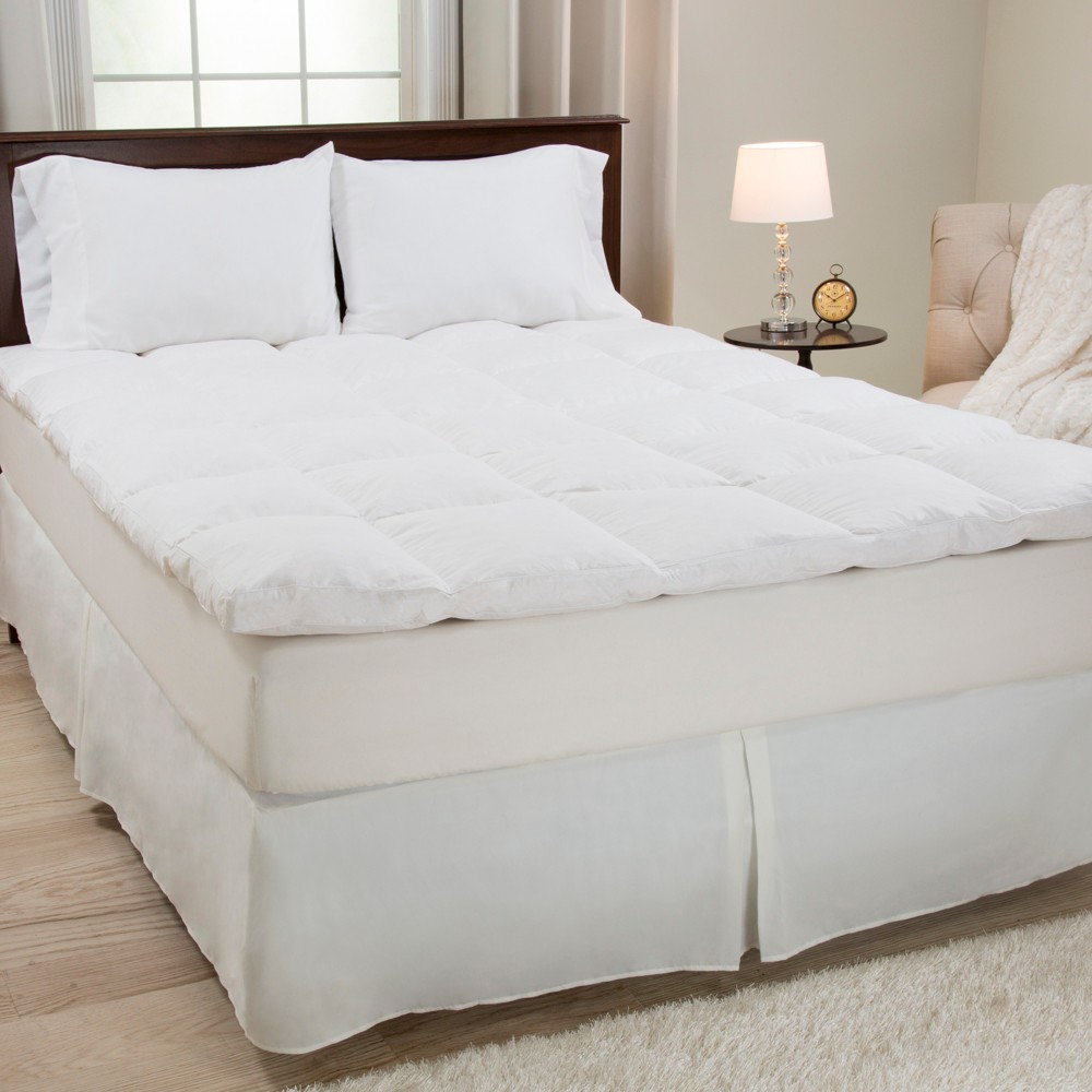 Duck Feather 2 34 Gusset Topper King White Yorkshire Home