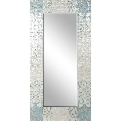 "71"" x 36"" Coastal Wood and Mussel Shell inlaid Wall Mirror - Olivia & May"