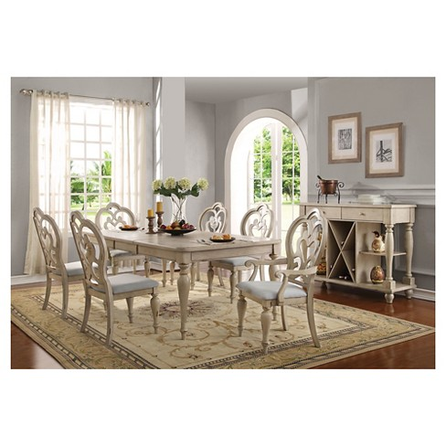 Abelin Dining Table Antique White Acme