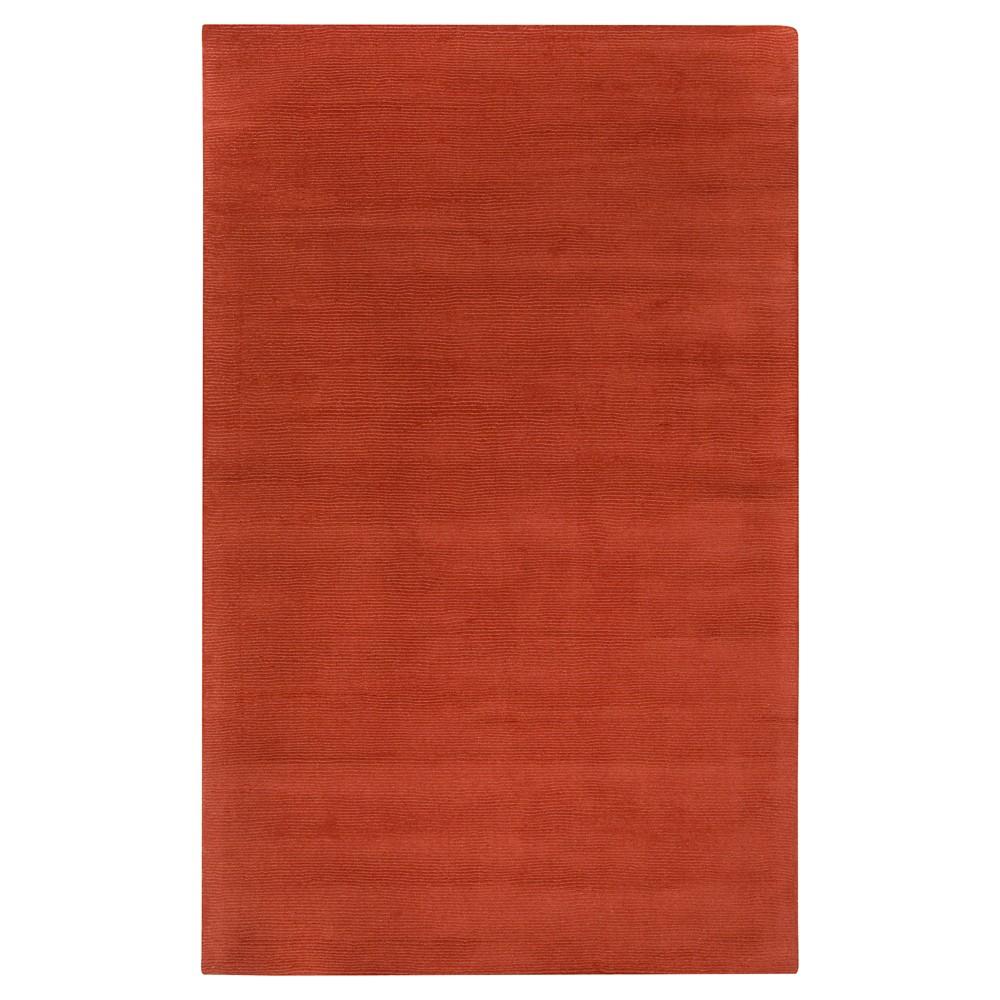 Orange Abstract Loomed Area Rug - (7'6