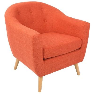 Rockwell Accent Chair Dark Orange LumiSource