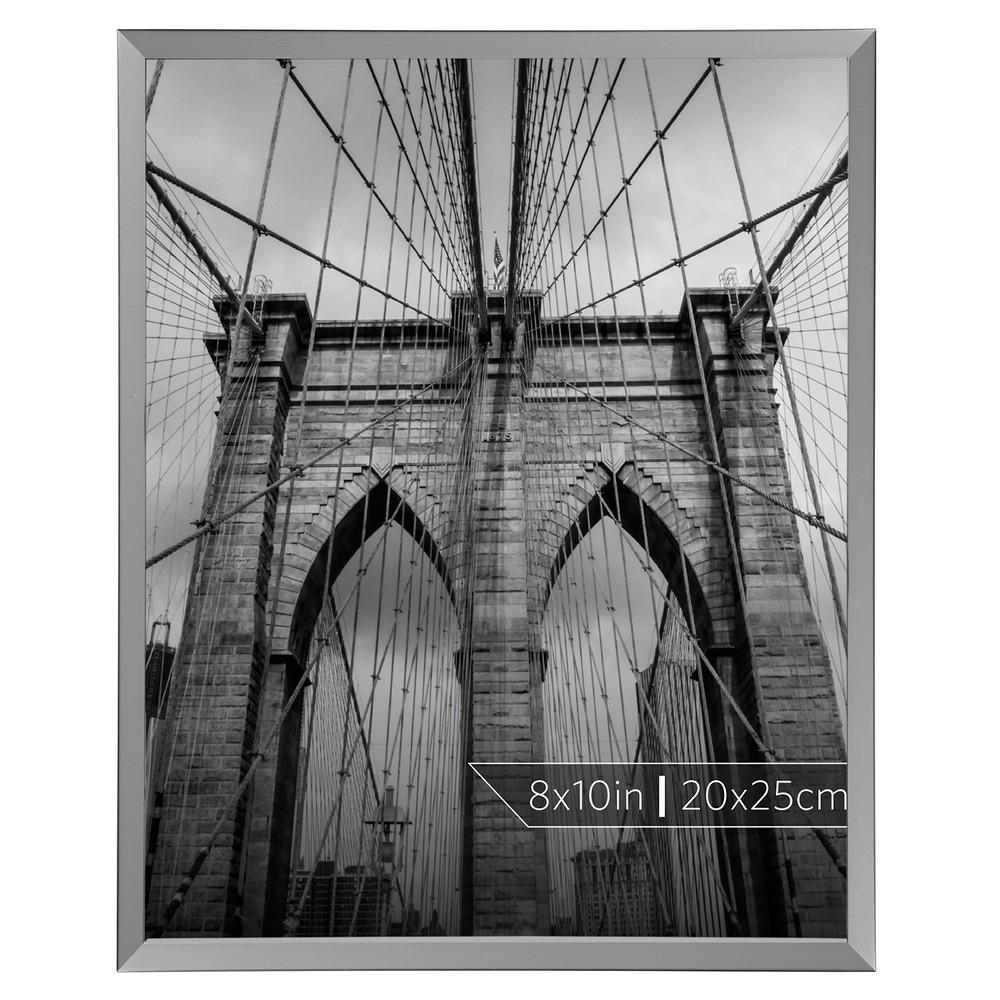 """Image of """"Burnes of Boston 8"""""""" x 10"""""""" Aluminum Gallery Polished Finish Single Image Frame Silver"""""""