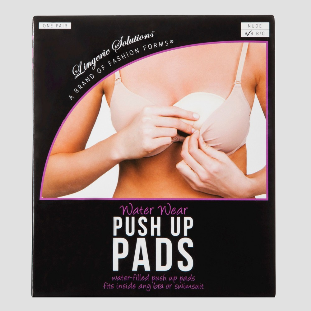 Fashion Forms Women's Water Wear Push-Up Pads - Nude B/C, White