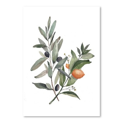 Americanflat Citrus Olive by Cami Monet Poster