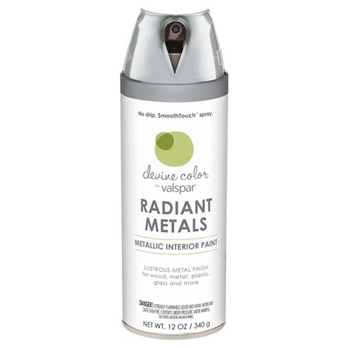 Devine Color Spray Paint by Valspar - Metallic Silver Metallic Finish - 12 oz Aerosol - image 1 of 1