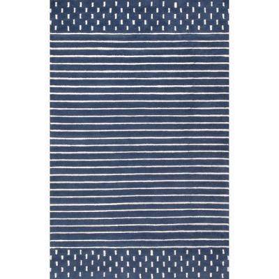 nuLOOM Hand Loomed Marlowe Stripes Area Rug