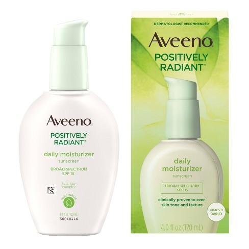 Aveeno Positively Radiant Daily Face Soy Moisturizer - SPF 15 - 4 fl oz - image 1 of 4