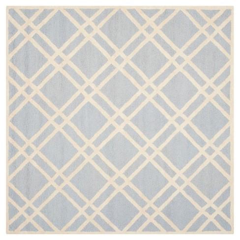 Frey Textured Wool Rug - Light Blue / Ivory (6' X 6') - Safavieh® - image 1 of 2