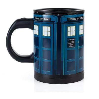 Seven20 Doctor Who TARDIS 12oz Self-Stirring Coffee Mug | Automatic Mixing Travel Cup