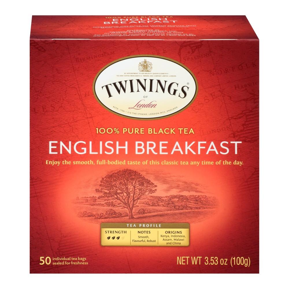 Twinings Classics Naturally English Breakfast Tea - 50ct