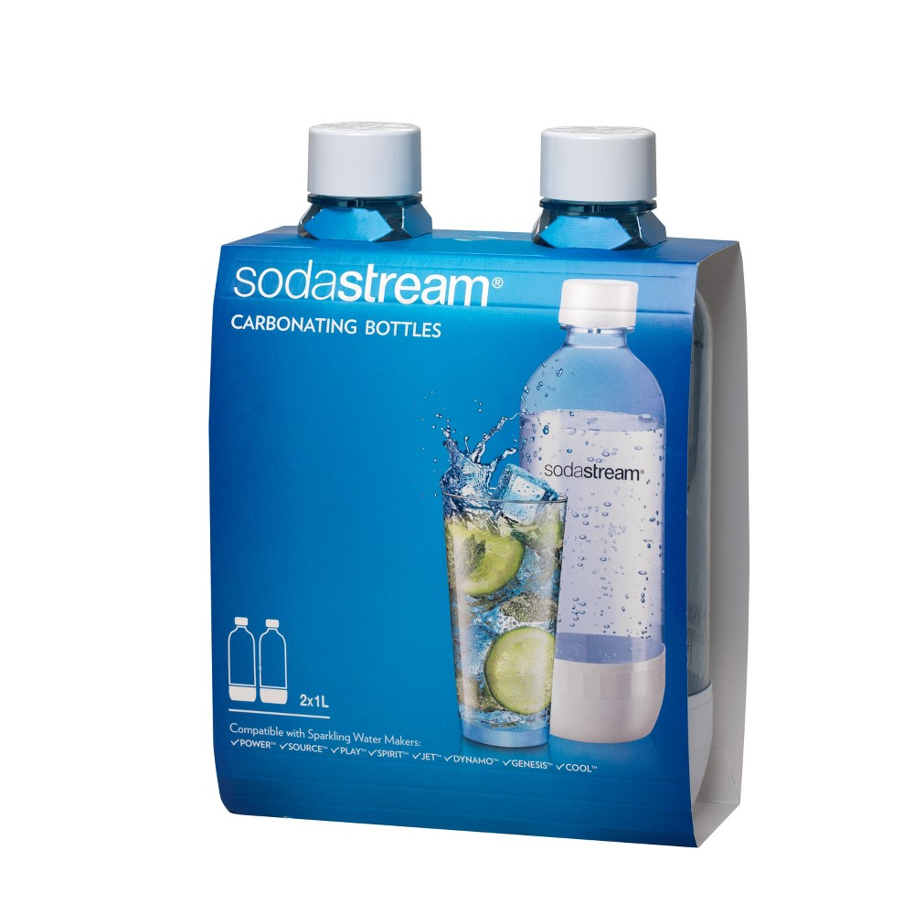 SodaStream 1L Carbonating Bottles, Clear