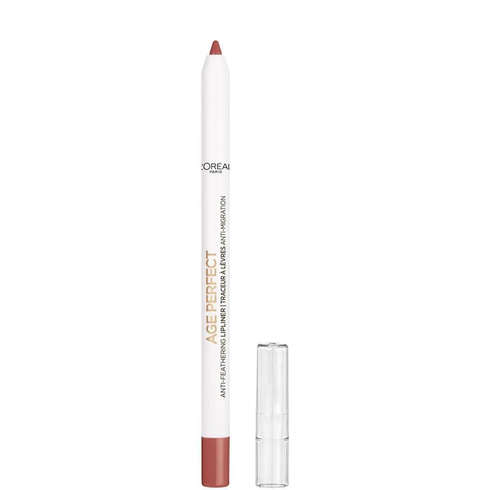 L 39 Oreal Paris Age Perfect Makeup Anti Feathering Lip Liner Nude Pink 0 04oz