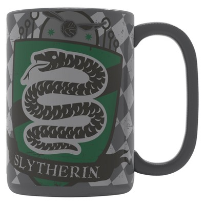 Harry Potter 15oz Ceramic Slytherin Mug Gray/Green - Zak Designs