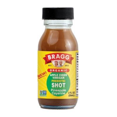 Bragg Organic Pineapple Cayenne Apple Cider Vinegar Probiotic Shot - 2 fl oz