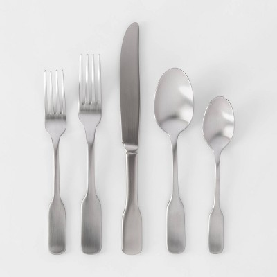 20pc Stainless Steel Amesbury Silverware Set - Threshold™