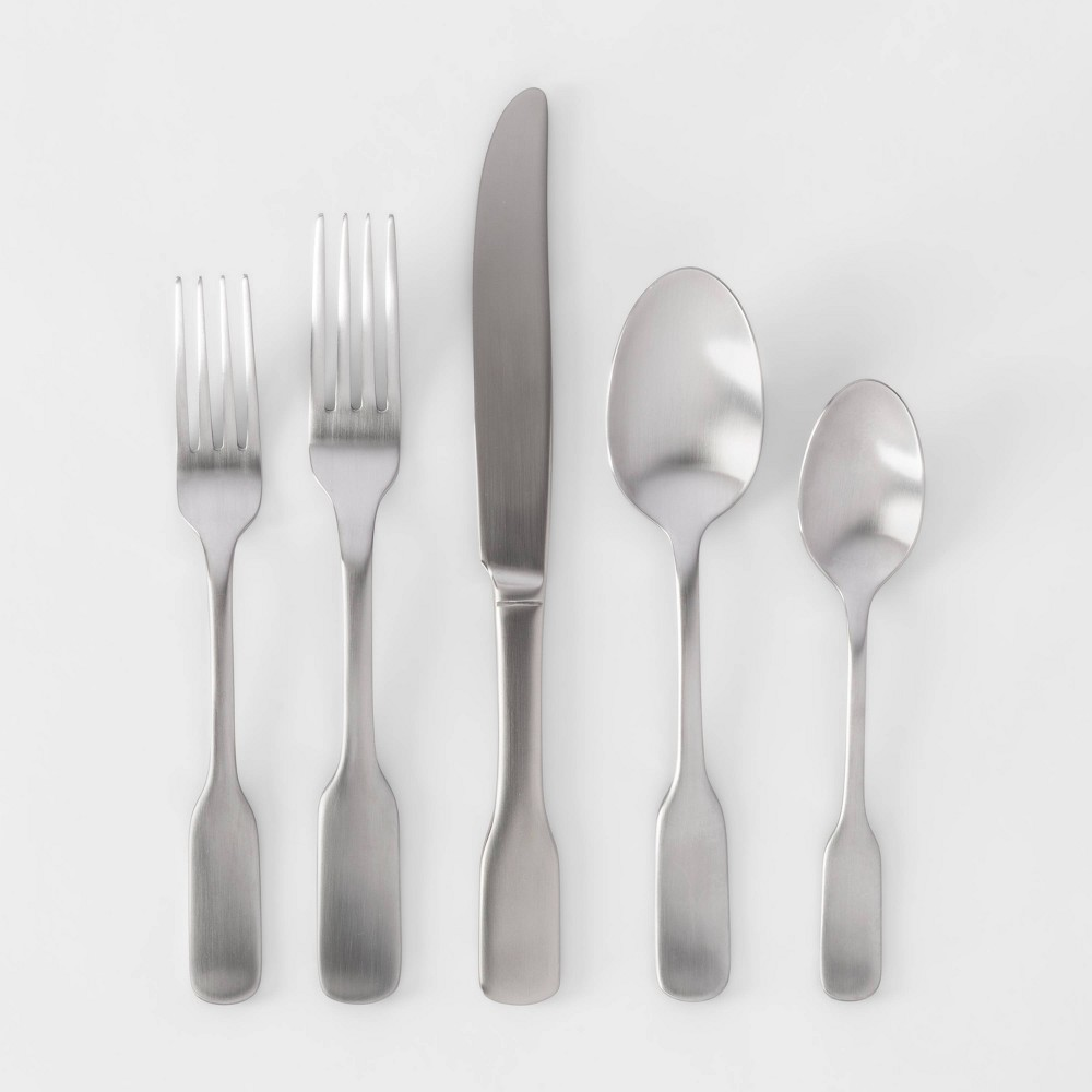 Image of 20pc Stainless Steel Amesbury Silverware Set - Threshold