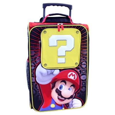 "Super Mario 18"" Light Up Kids Suitcase - Red/Black"