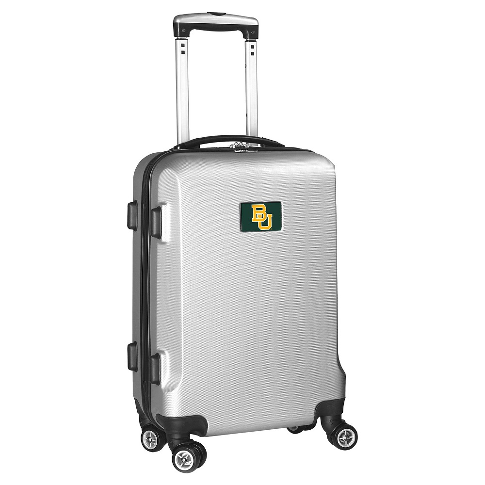 NCAA Baylor Bears Silver Hardcase Spinner Carry On Suitcase