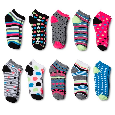 Modern Heritage™ Women's Socks 10pk - Gray One Size - image 1 of 2