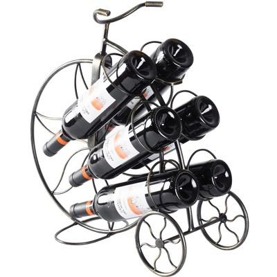 Vintiquewise Vintage Decorative Metal Bicycle 6 Bottle Countertop Tabletop Wine Holder