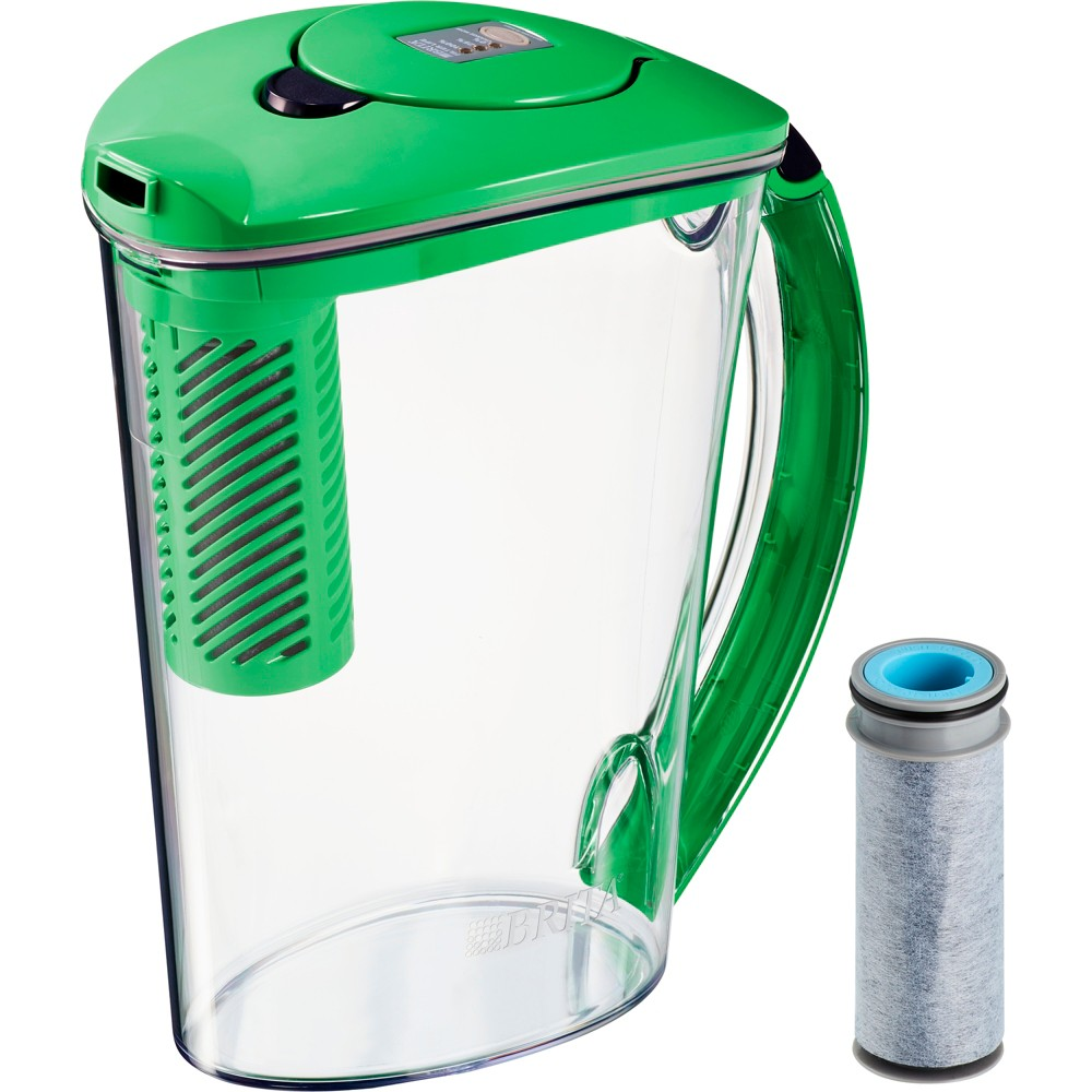 Brita Stream 10 Cup BPA Free Filter-As-You-Pour Water Pitcher With 1 Rapids Filter - Island Green