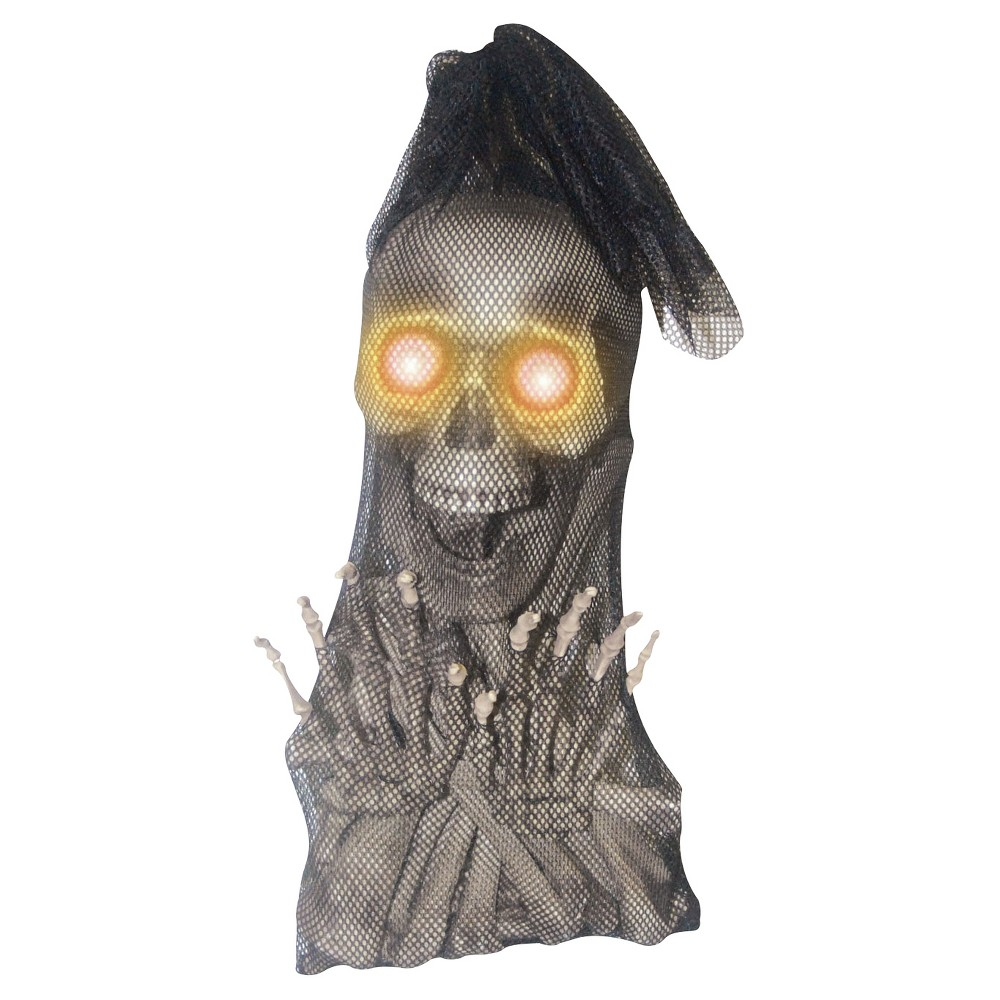 Halloween Bag Of Bones Light Up Eyes, Gray