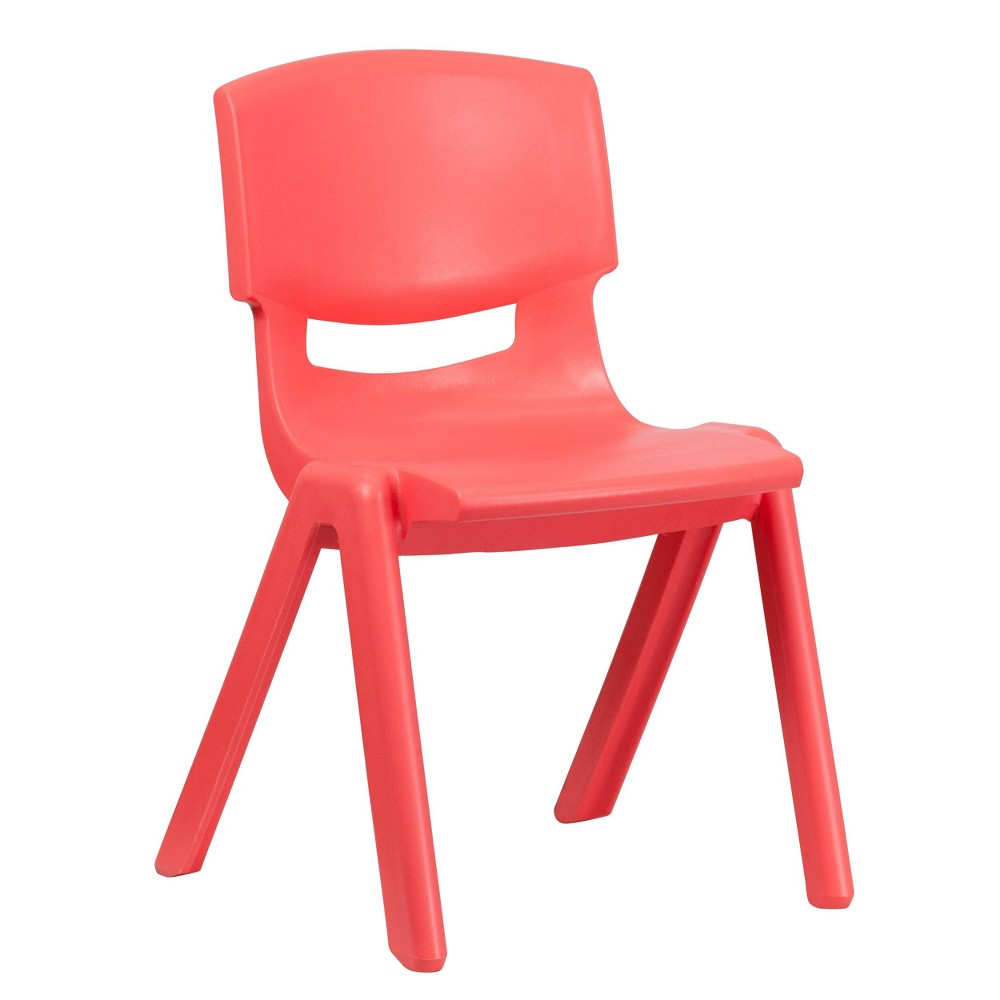 Image of Large Stacking Student Chair - Red - Belnick