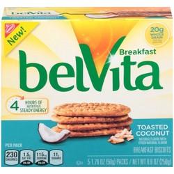 belVita Toasted Coconut Breakfast Biscuits - 5ct