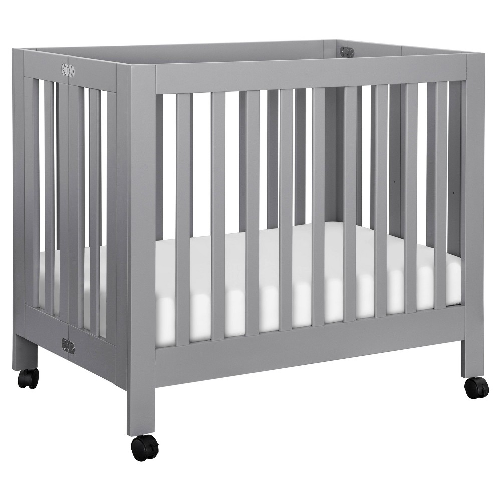 Image of Babyletto Origami Mini Crib - Gray