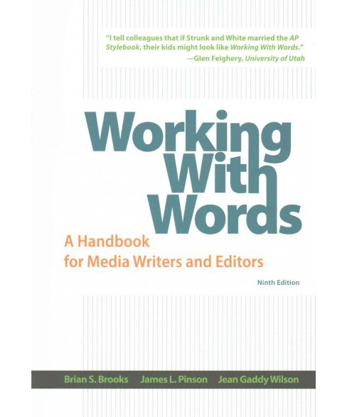 Working With Words + Launchpad Solo for Journalism Access Code (Paperback) (Brian S. Brooks & James L. - image 1 of 1