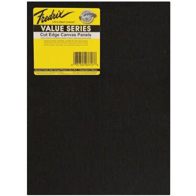 Fredrix Value Series Cut Edge Canvas Panel, 8 x 10 Inches, Black, pk of 25