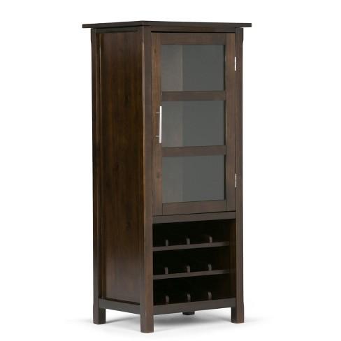 Franklin Solid Wood High Storage Wine Rack Cabinet Rich Brown Wyndenhall