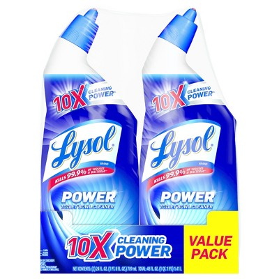Lysol 10x Cleaning Power Toiler Bowl Cleaner Value Pack, 2 x 24oz