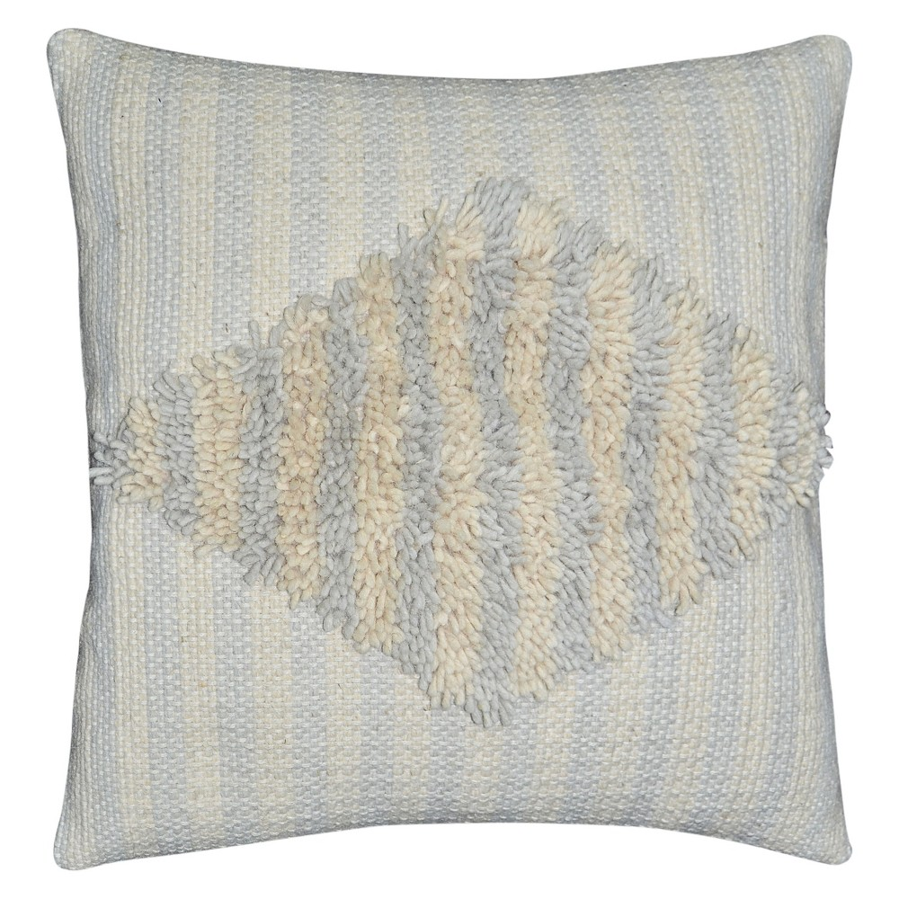 "Image of ""Woven Diamond Square Throw Pillow (18""""x18"""") Cream (Ivory) - Nate Berkus"""