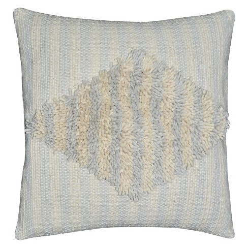 "Woven Diamond Square Throw Pillow (18""x18"") Cream - Nate Berkus™ - image 1 of 2"