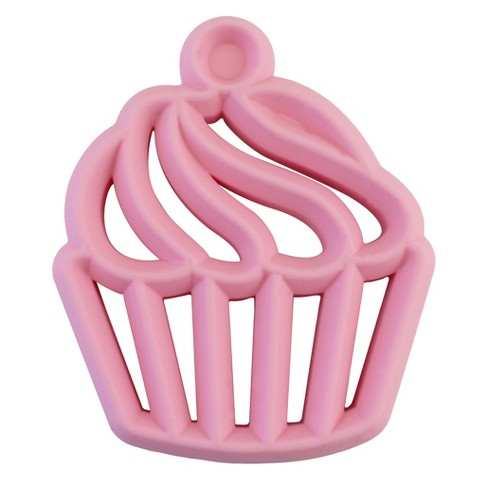 Itzy Ritzy Silicone Teether Cupcake - Pink - image 1 of 3