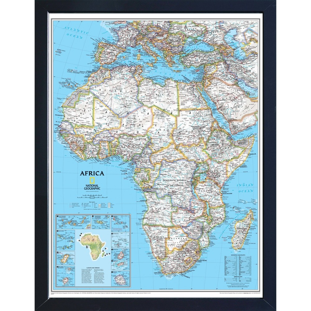 Image of National Geographic Magnetic Travel Map - Africa Classic