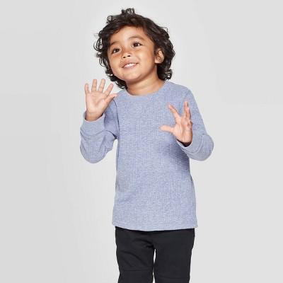Toddler Boys' Snow Heather Thermal Long Sleeve T-Shirt - Cat & Jack™ Navy 4T
