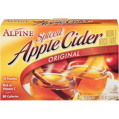 Alpine Spiced Cider Instant Drink Mix Original Apple Flavor - 10ct