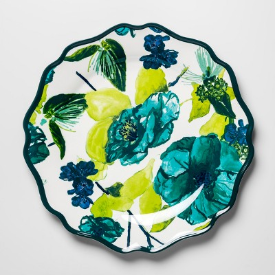 Melamine Dinner Plate 10.5  Blue/Green Floral - Opalhouse™