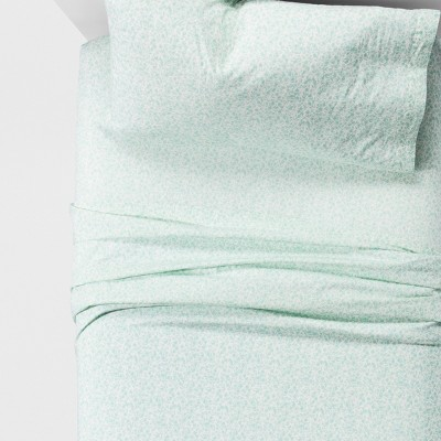 Vintage Wash Percale Sheet Set (Queen)Pond Green - Threshold™