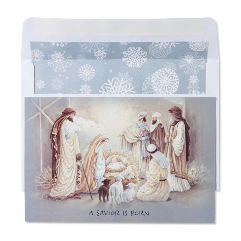 American Greetings 40ct Nativity Scene Holiday Boxed Cards - image 1 of 1
