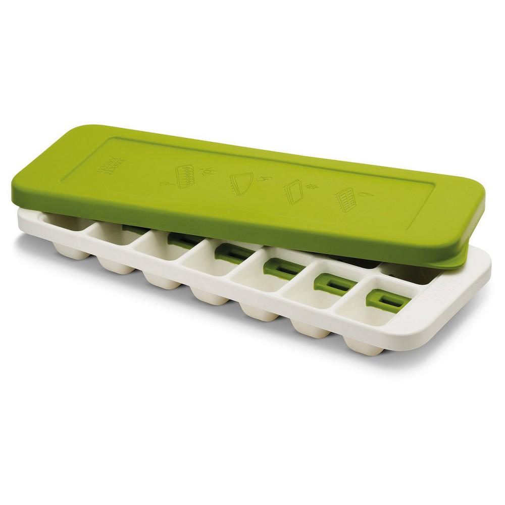 Joseph Joseph QuickSnap Plus Quick Release Ice Cube Tray – White/Green, Green & White