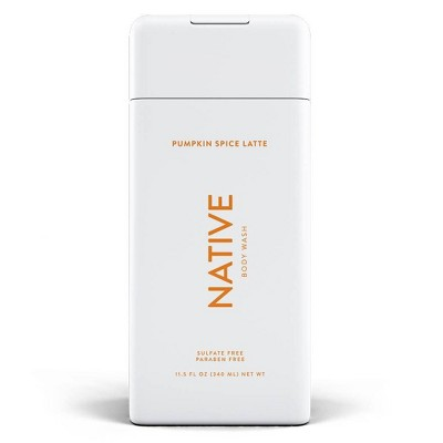 Native Body Wash Pumpkin Spice Latte - 11.5 fl oz