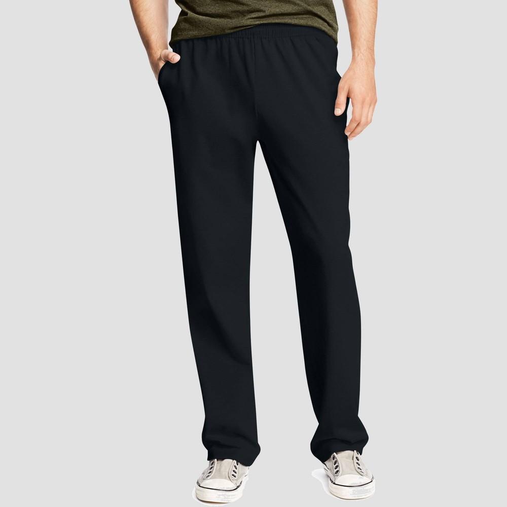 Hanes Men 39 S Big 38 Tall Jersey Pants Black 3xl
