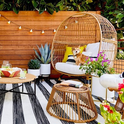 Back Patio Outdoor Living Room - Styled by Emily Henderson