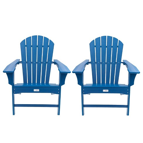 Hampton 2pk Outdoor Patio Adirondack Chair - Navy - LuXeo - image 1 of 8