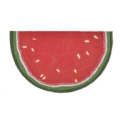 Red Watermelon Slice Kitchen Rug (2'6 X4' Half-Circle)- Liora Manne